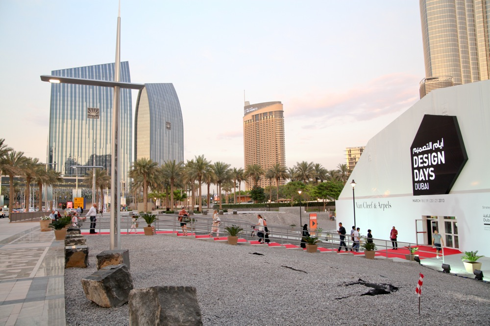 An outdoor view of the Design Days Dubai 2013 venue.