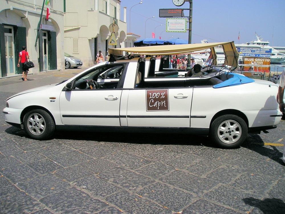 Les taxis partagés à Capri : attractif pour touristes et locaux
