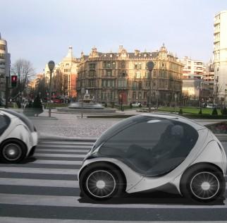 Hiriko, une mini-voiture électrique de 1,5 mètres une fois repliée