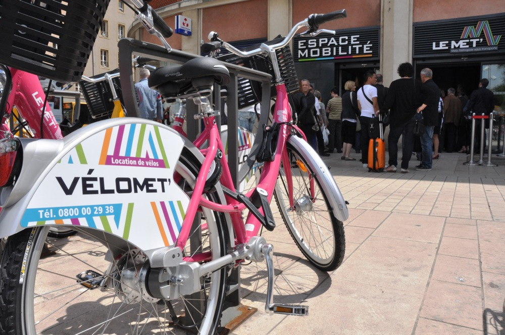 Vélo Met', le réseau de vélos en libre-service, en alternative à la voiture