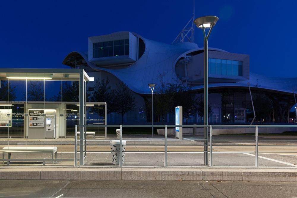 La station Centre Pompidou Metz
