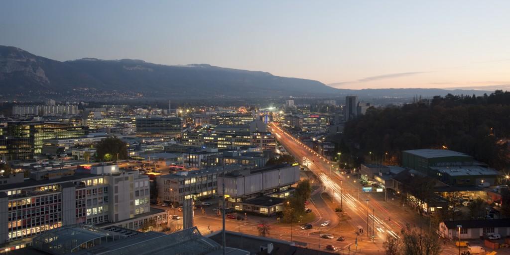 Une vue panoramique du PAV, à Genève