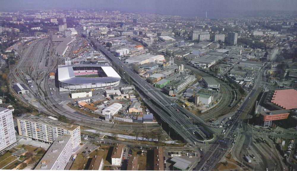 Une vue panoramique du PAV