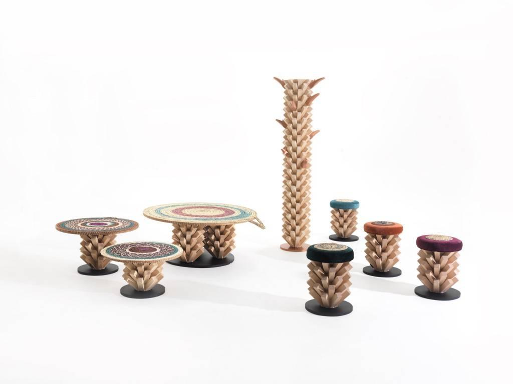 Collection PALM - tabourets et tables