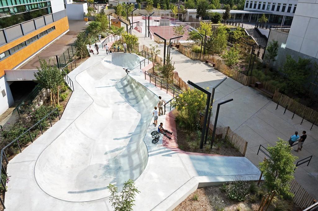 Skatepark à Courbevoie