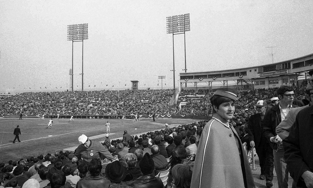 La foule au parc Jarry, en 1970. Crédit Flickr / Archives ville de Montréal