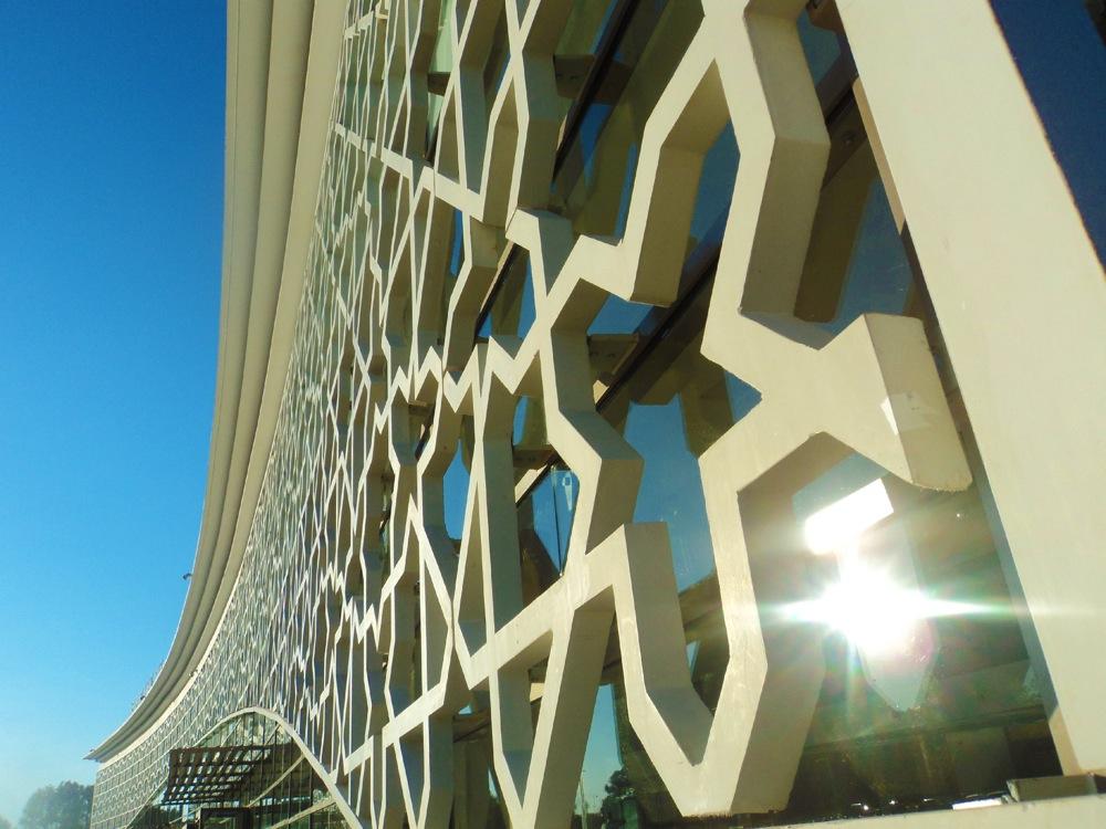 Résille de l'aéroport de Rabat-Salé au Maroc © Lafarge