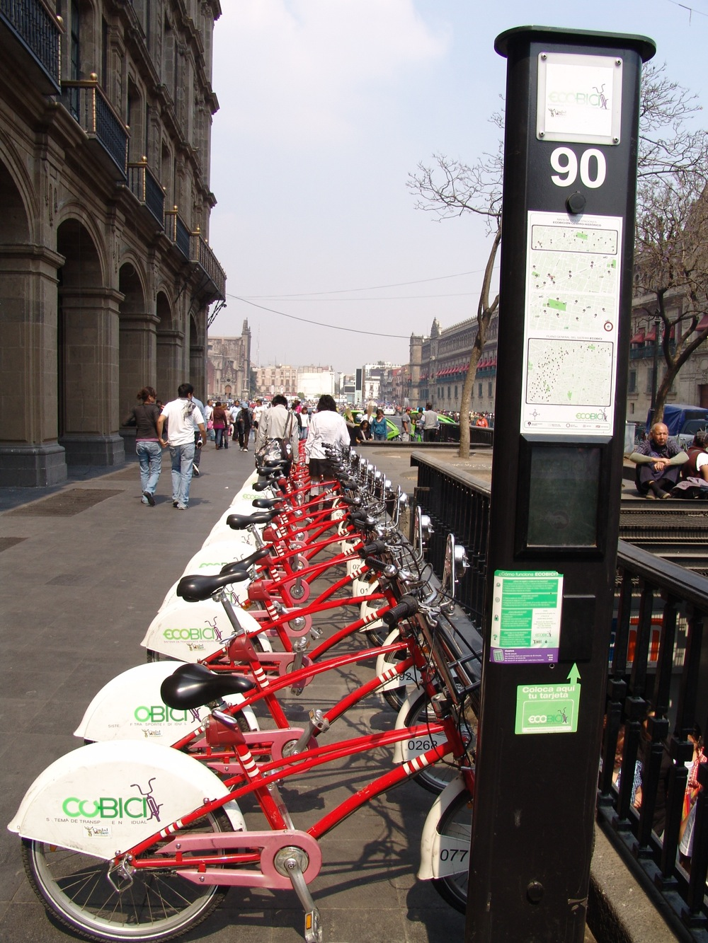 Ecobici, les vélib' de Mexico
