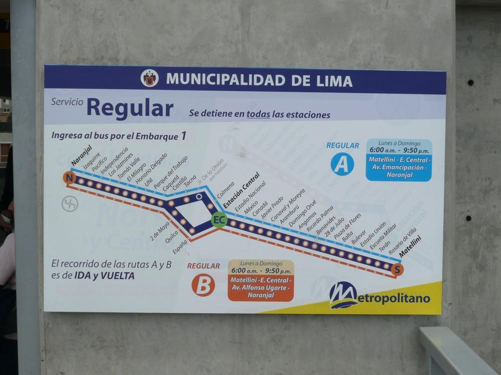 Le Metropolitano, le BRT de Lima © Catherine Paquette