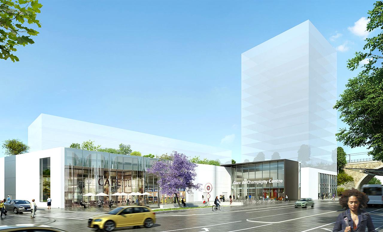 Projet gare Champigny centre - Richez associes
